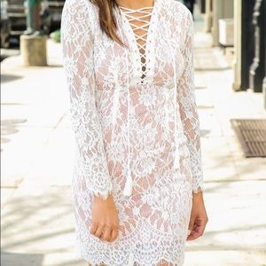 Lacey tie up dress